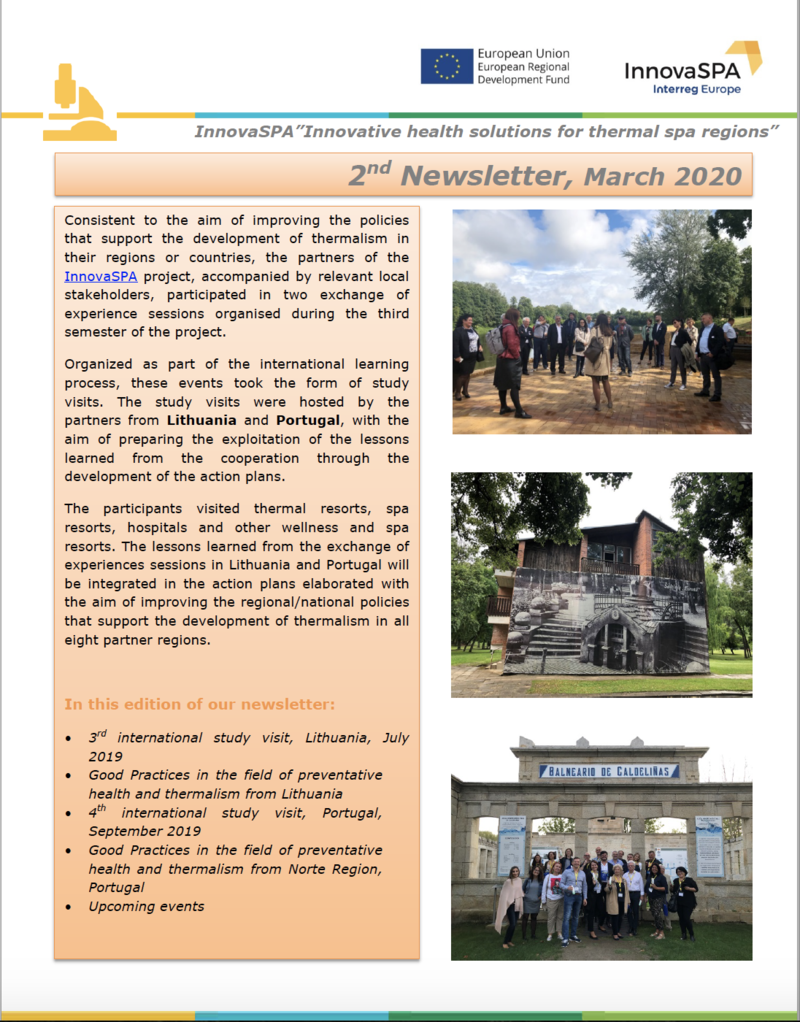 InnovaSPA│ 2nd Newsletter has been produced