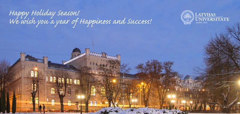 The University Of Latvia Christmas E Card University Of
